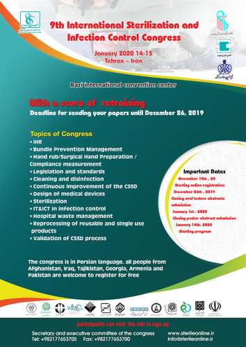 The 9th International sterilization and infection control Special Congress